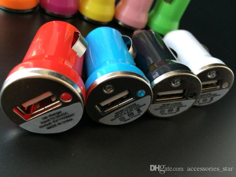 Colorful Bullet Car Chargers Mini Portable Jump Starter Inverter Power Bank Car Charger For Cellphone
