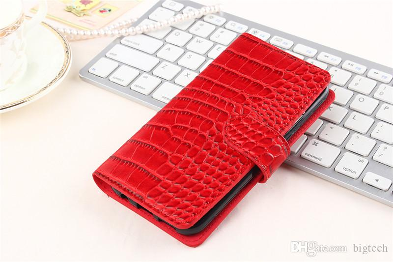 50pcs Crocodile Leather Case for iphone 7 4 7inch zte zmax pro z981 Flip  Cover Crocodile PU Leather Phone Bags Cases with free shipping
