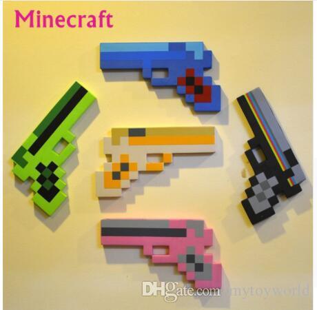 Großhandel Minecraft Spielzeug Minecraft Schaum Pickax Gun Spielzeug - Minecraft spiele mit waffen