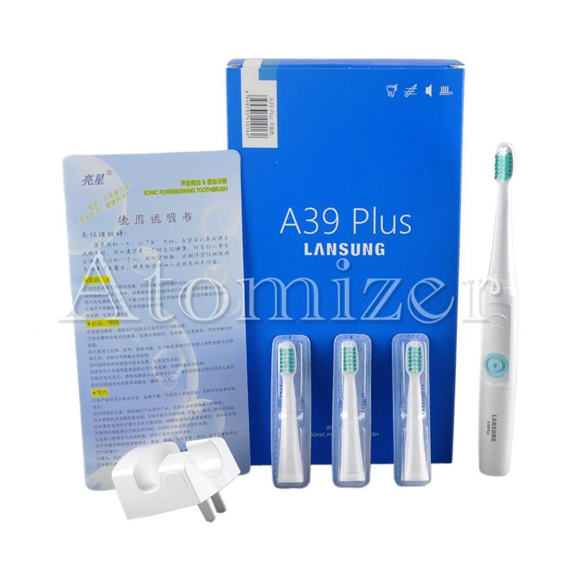 Lansung A39Plus 충전 전동 칫솔 초음파 소닉 로타리 전기 칫솔 충전식 칫솔 + toothbrushead 0610002