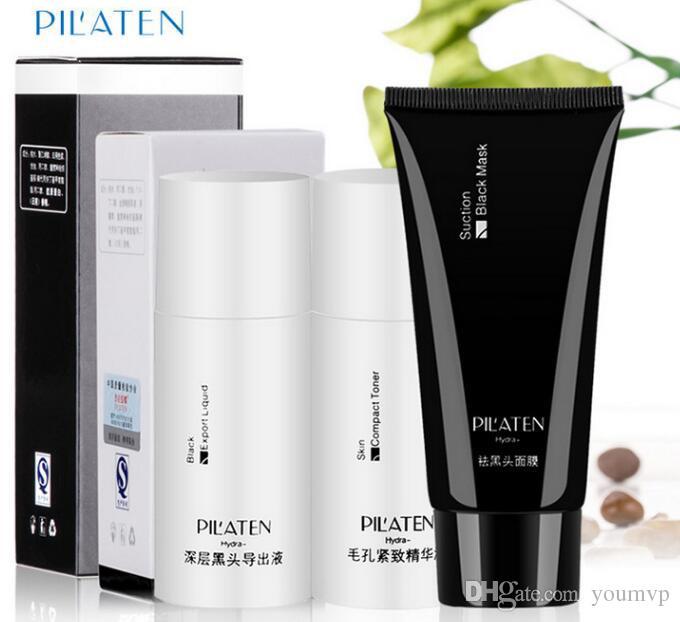 PILATEN Blackhead Remover Mask+Black Head Export Liquid+Skin Compact Toner Pilaten Pore Cleaner DHL Free