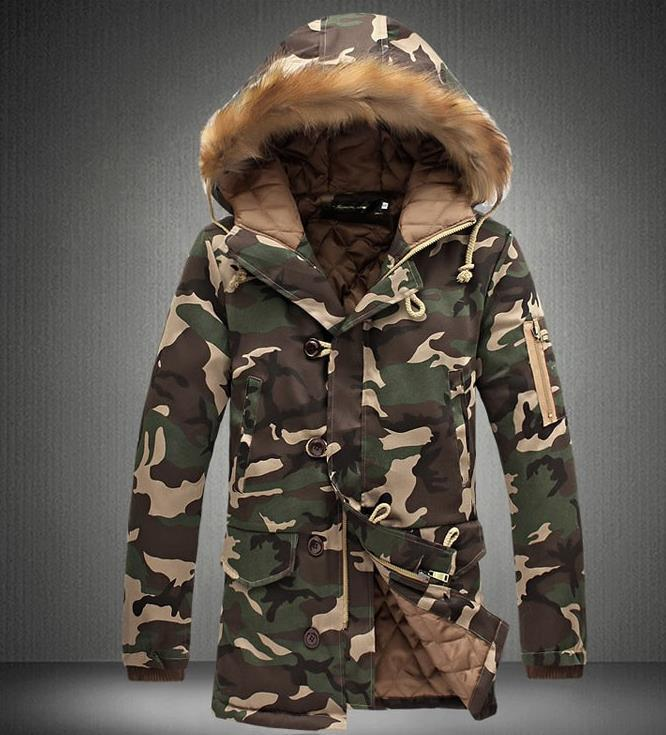 Military style winter jacket mens