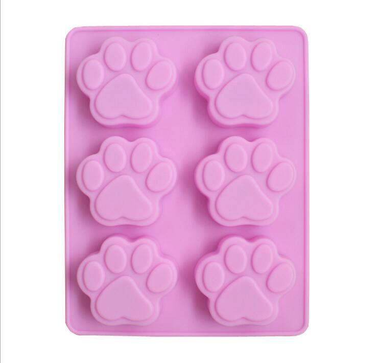 Le moule à gâteau en silicone savon moule moule de cuisson moule patte de chat moules en silicone outils de décoration de gâteau accessoires de cuisine
