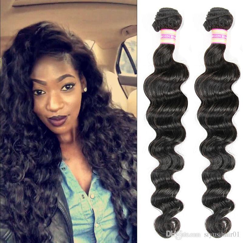 Peruvian Indian Mongolian Malaysian Brazilian Virgin Hair Bundles