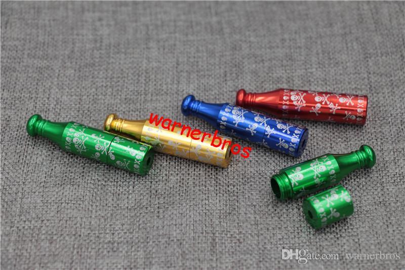 USA Deutschland Snuff Snorder Günstige Preis 6 cm Raucherpfeife Jamaikaner Reggae Tabakpfeifen Schädel Zigarette Sniffer Herb Rauchrohre