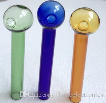 2016 bruciatore di olio di vetro colorato tubo 2mm spessore bruciatore di olio di vetro occhiali tubo di vetro tubi olio di chiodo bruciatore di olio tubo di spessore tubi colorati