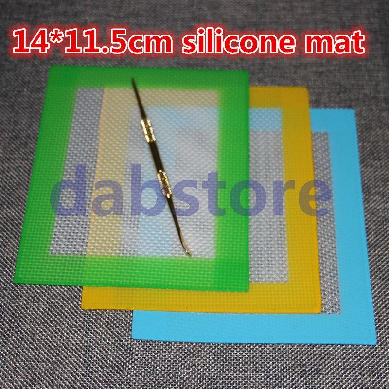 Tapis de cuisson en silicone antiadhésif en gros Tapis antiadhésif en silicone 14 * 11.5 pouces Tapis Dab en silicone Tapis Dab avec fibre de verre