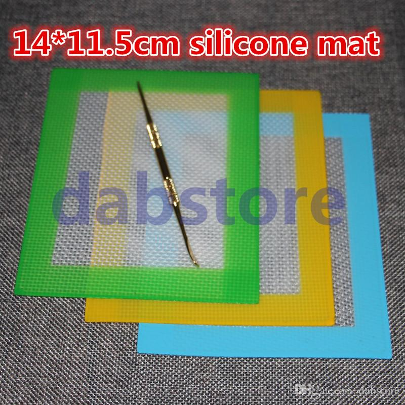 Venta al por mayor OEM antiadherente esteras de cera de silicona 14 * 11.5 cm 5.5 * 4.5 pulgadas Cera de cera BHO DAB Pad cera estera libre de DHL
