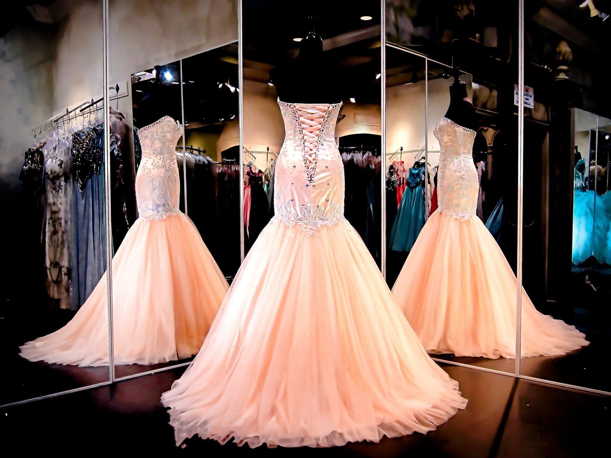 2018 뜨거운 섹시한 이브닝 드레스 착용 아가씨 크리스탈 비즈 인어 복숭아 얇은 롱 코르 셋 다시 공식적인 vestidos 저렴한 댄스 파티 가운