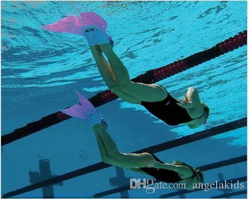 Mermaid Tail Swim Fins Little Children Frog Monolithic Shoes Conjoined Whale Tail Fins Kids Mermaid Swim Flipper