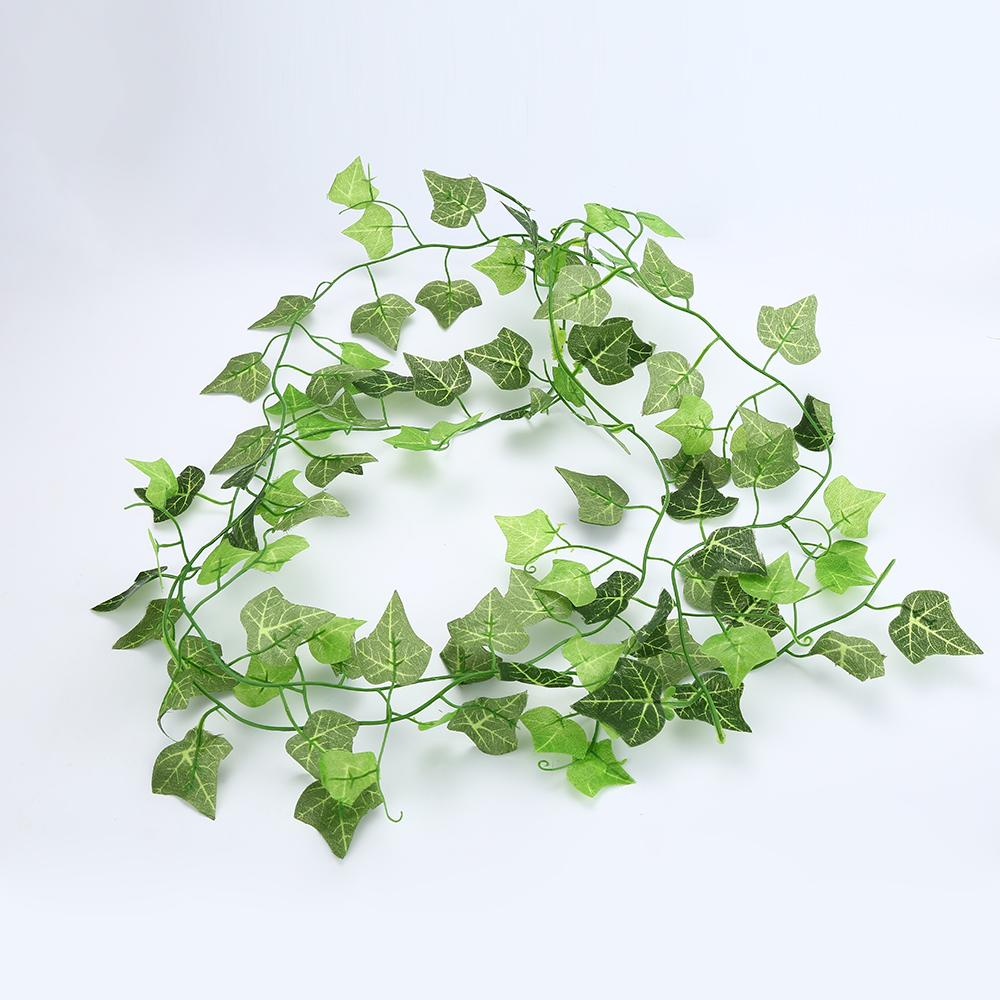 Green Artificial Plastic Ivy Leaf Garland Plants Flower Vine Foliage Flowers Home Decor