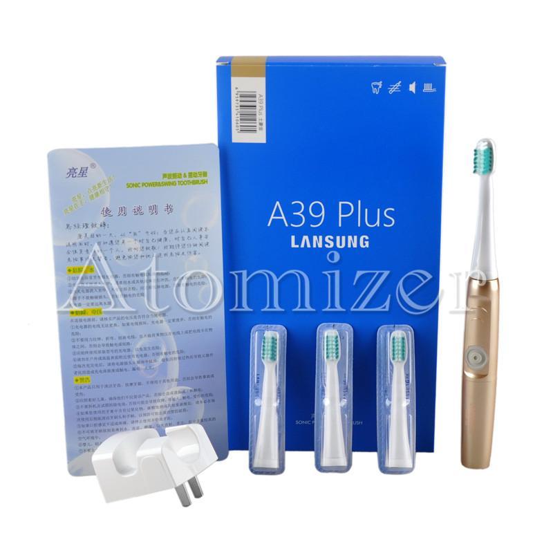 Lansung A39Plus اللاسلكية تهمة فرشاة الأسنان الكهربائية بالموجات فوق الصوتية فرشاة الأسنان الكهربائية فرشاة الأسنان قابلة للشحن 0610002