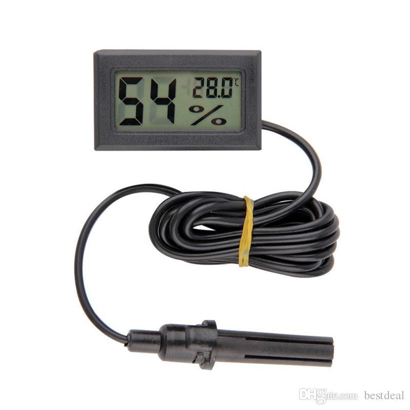 FY-12 LCD Digitale Thermometer Hygrometer Embedded Professinal Mini Temperatuur Vochtigheid Sensor -50-70C 10% ~ 99% RH Detection Controller 2016
