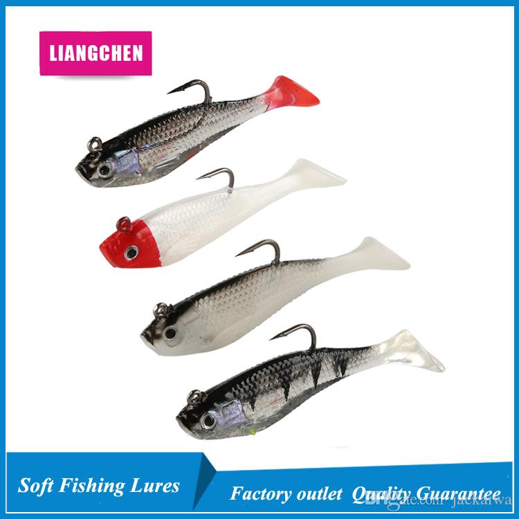 8cm 9.5g T Tail Package Lead Fish Silicone Lures Soft Baits Fishing Hooks Fishhooks Artificial Pesca Tackle Accessories