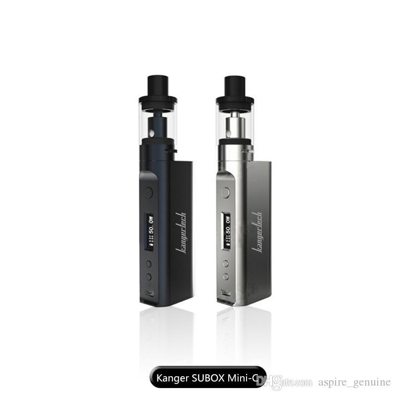 genuine kanger subox mini-c kit with 50w kbox mini-c mods topfill 3.0ml e-juice protank 5 tank ssocc 0.5ohm coil put 18650 battery