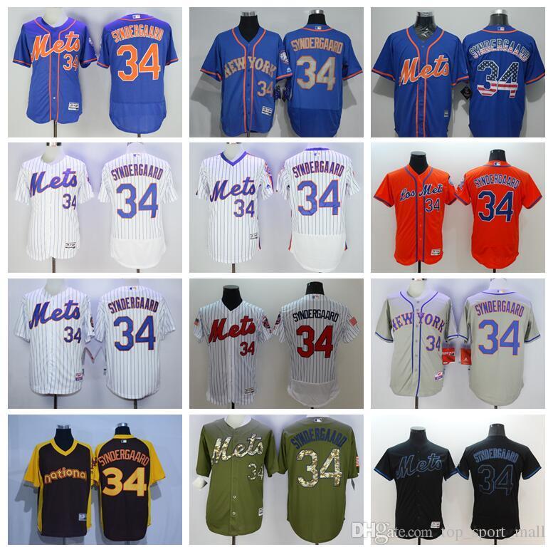 2017 mlb new york mets jerseys baseball 34 noah syndergaard jersey flexbase cool base 2015 world