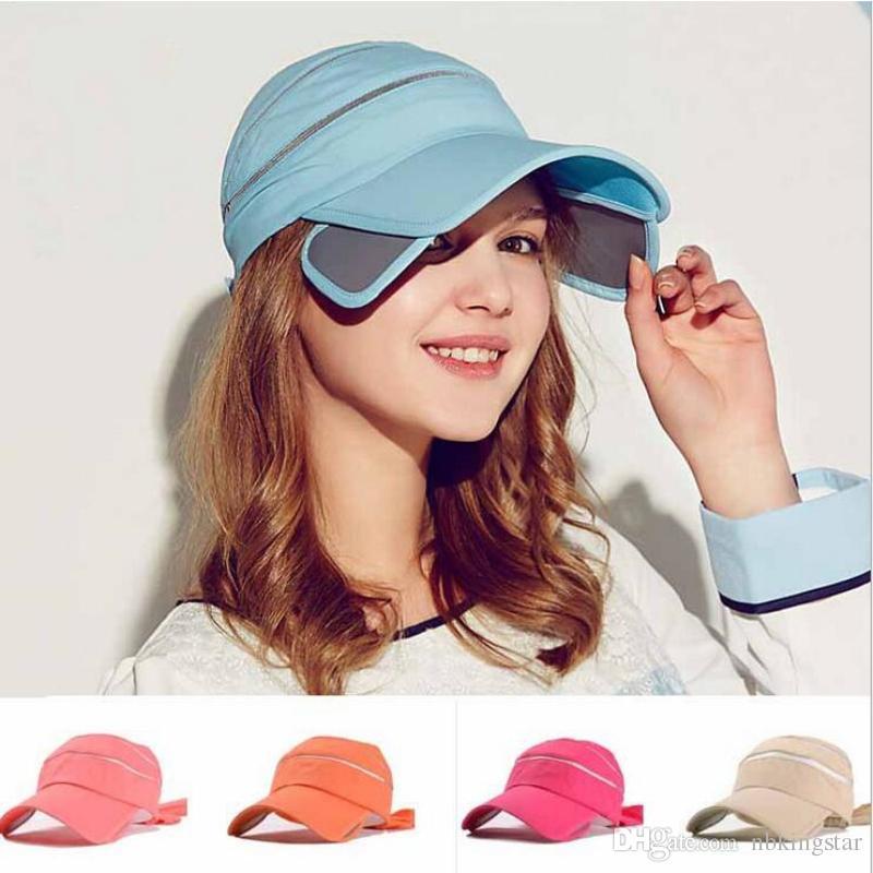 df3af3cf506 2019 Sun Visors Hat For Women Hat Empty Top Pull Bow Sunmmer Hats Elegant  Sunscreen Baseball Cap Outdoor Tourism From Nbkingstar