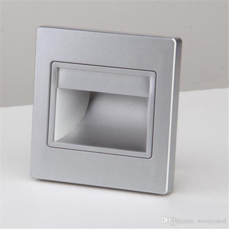 LED SMD Wandleuchte leuchtet Beleuchtung 85-265V Einbauleuchte Treppenlicht in Schritt Lampe Treppenleuchten warm / kalt weiß mit 86 Box
