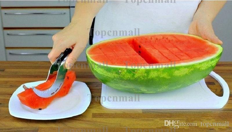 Summer Factory Price Watermelon Slicer Cutter Corer Splitter Scoop Safe Utensils Stainless Steel Tool Cantaloupe Cutter Splitter TPML-1359