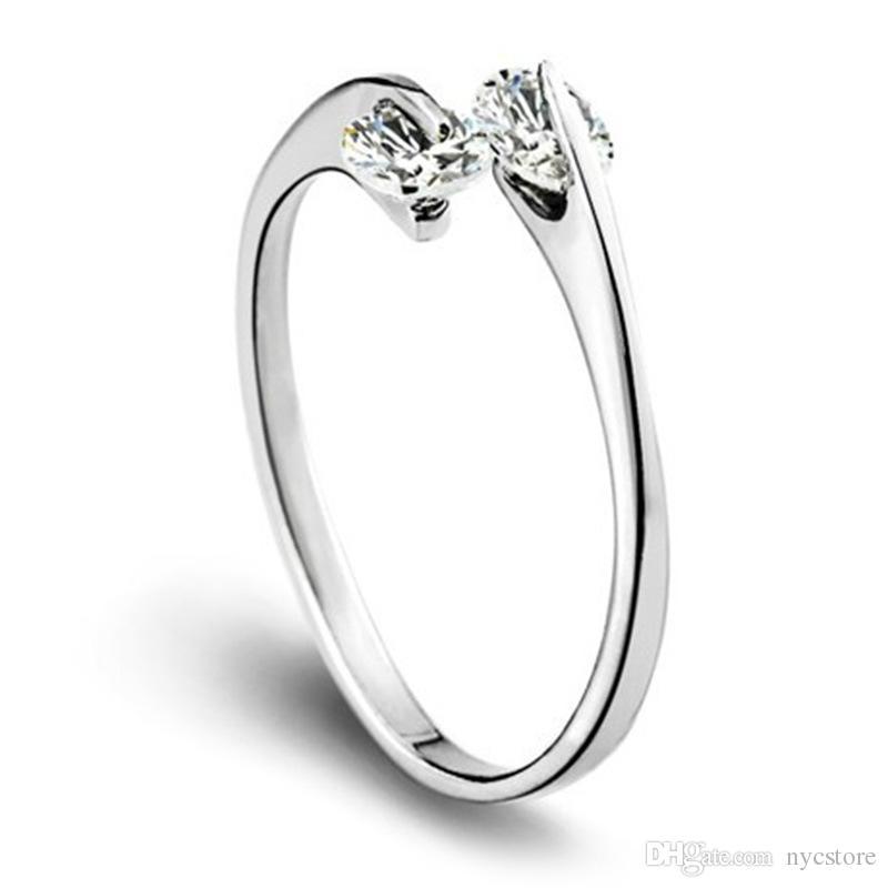 925 Ayar Gümüş Jewerly Yüzükler Yunuslar Yusufçuk Wings Melek Aşk Tilki Kelebek Açılış Ayarlanabilir Yüzük Kadınlar Için