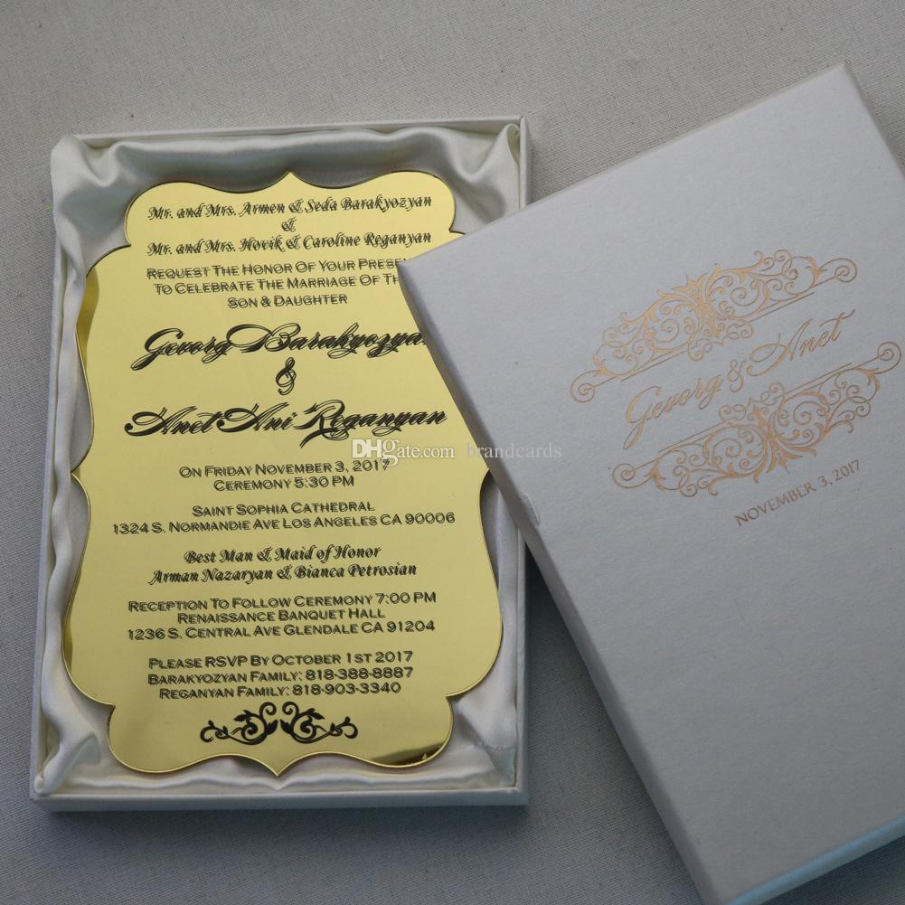 30 Personalized Prnted Acrylic Invitation Wedding Business