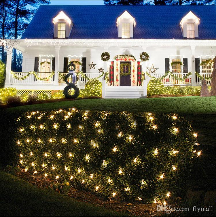2M*3M 200 LED Web Net Light Fairy Christmas Home Garden Lawn Light Curtain Net Light Net Lamps 110V 220V Super Bright Fairy String Light