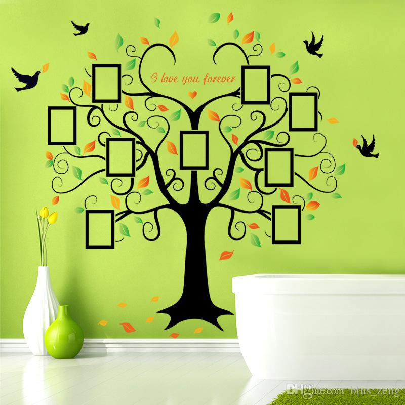 60*90cm Heart Photo Frame Tree Wall Stickers Diy Art Decal Removeable  Wallpaper Mural Sticker For Living Room Sk2010w Sticker Wall Decor Sticker  Wall ... Part 52