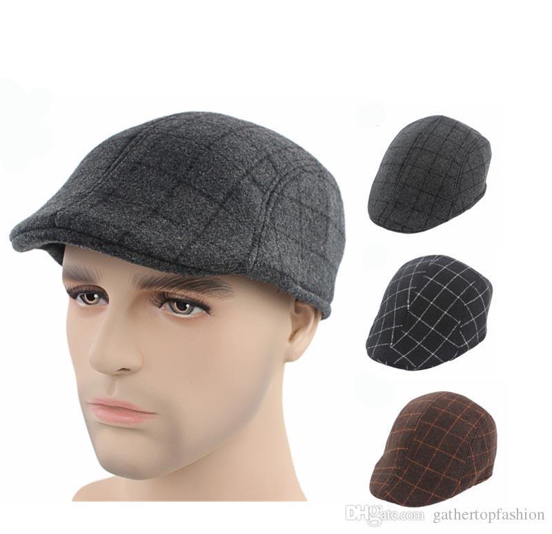 Großhandel 2016 Männer Wolle Mischung Berets Caps Für Männer ...