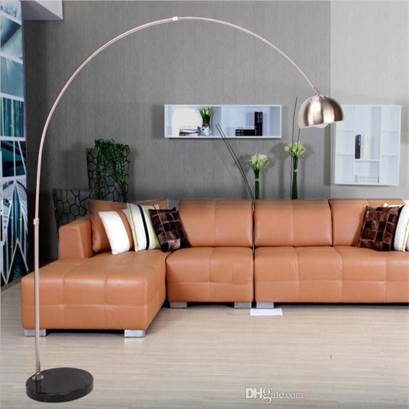 2019 Modern Fishing Floor Lamp 110 220V Marble Long Arm Modern Floor ...
