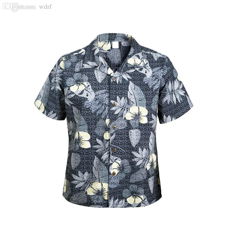 b9ef70b9a1ee 2019 Wholesale 2016 Beach Shirts Men'S Hawaiian Cotton Shirt Chemise Homme  Large Plus Size Fancy Dress Shirts For Men Camisa Masculina From Wdrf, ...