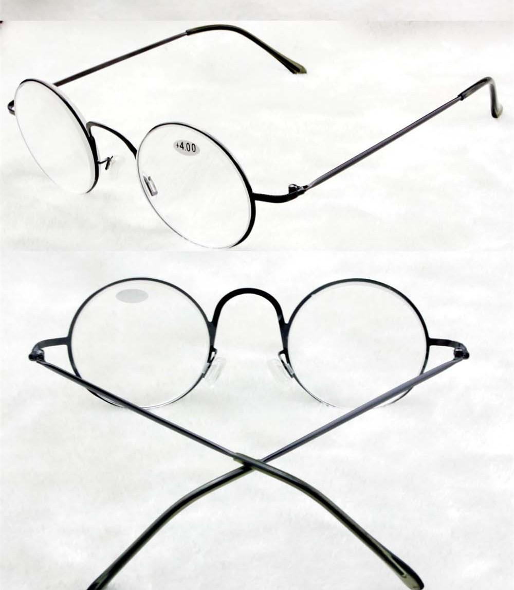 75ad9a782a2 New Women Metal Reading Glasses Retro Round Crystal Reading Glasses Full Frame  Eyewear Glasses 1.00 +4.00 Computer Reading Glasses For Men Cool Reading ...