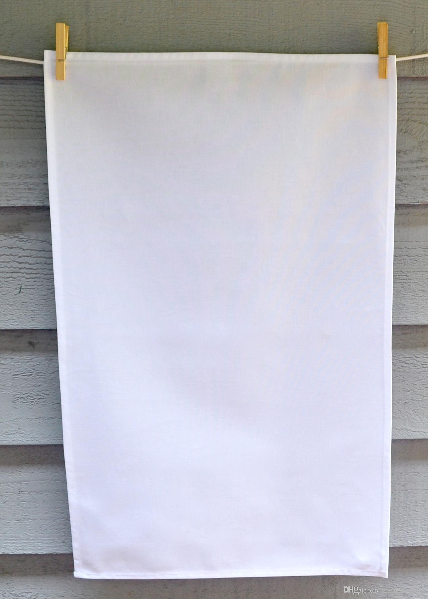 2018 plain white tea towel blank cotton canvas tea towel 50x70 cm