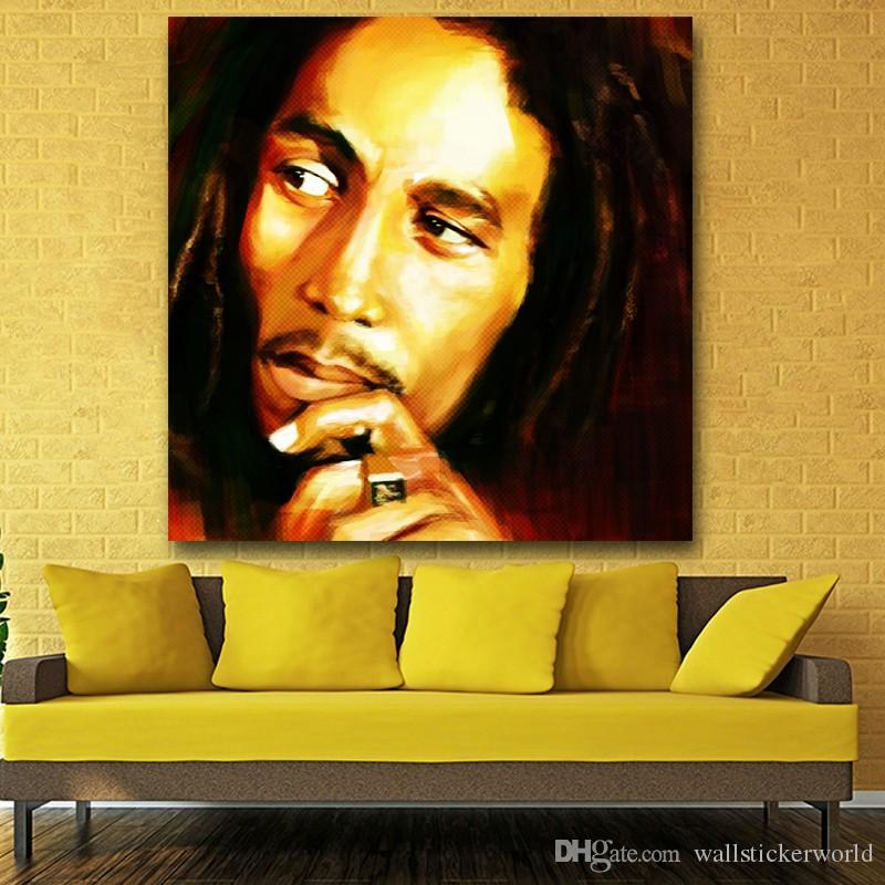 Bob Marley Print Oil Painting Canvas Pictures For Living Room Wall Poster And Prints Modern Art No Framed