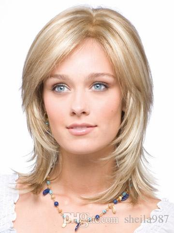 Whole Sale Fashion Wig New Sexy Women's Short Mix Blonde Natural Hair Wigs + wig