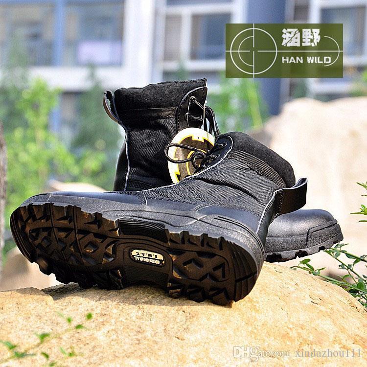 SWAT Armee Stiefel Kampfstiefel Sand Farbe Special Forces taktische Wüste Stiefel High-Top-Kampfstiefel Größe 39-45