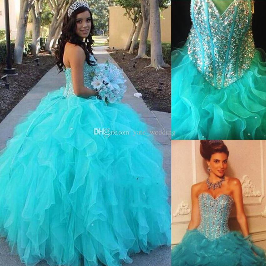 2016 Gorgeous Ball Gown Quinceanera Dresses Sweetheart
