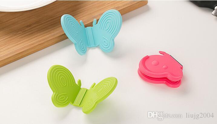 Mini Borboleta Silicone Forno Luva Magnética Hea Isolamento Clipe Dedo Guarda Protetor Prato Prato Clipe ray Clip Clamp Titular