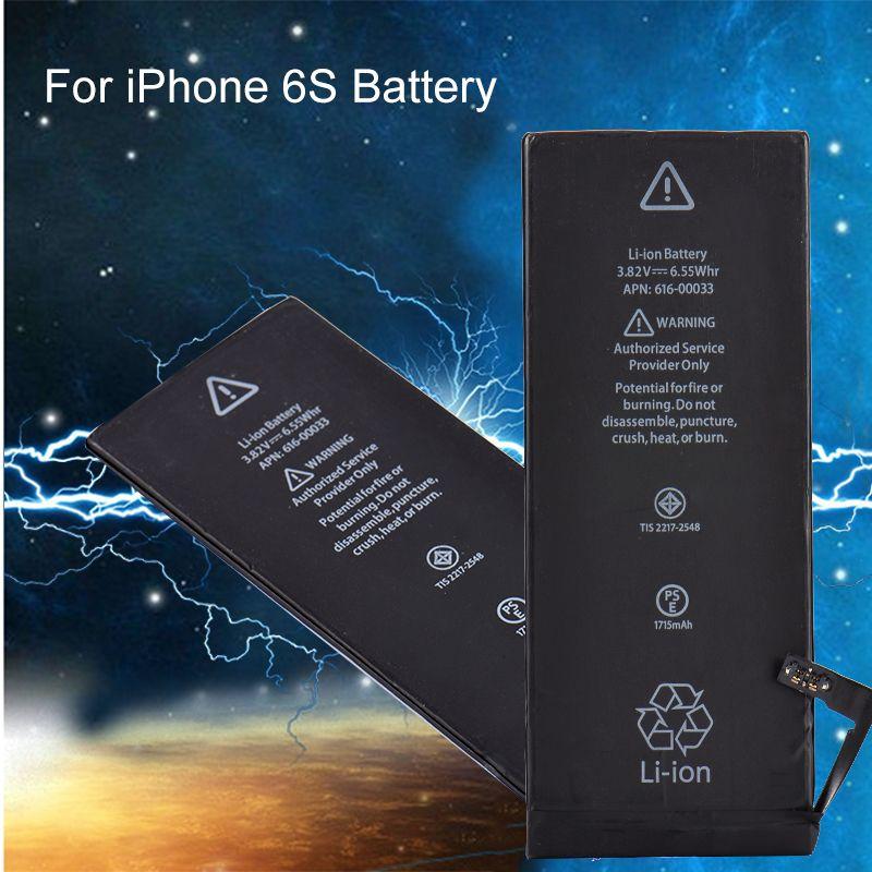 Nova substituição da bateria de íon de lítio genuíno com cabo flexível para iphone 6 s 6 plus bateria de lítio embutida para iphone 5se