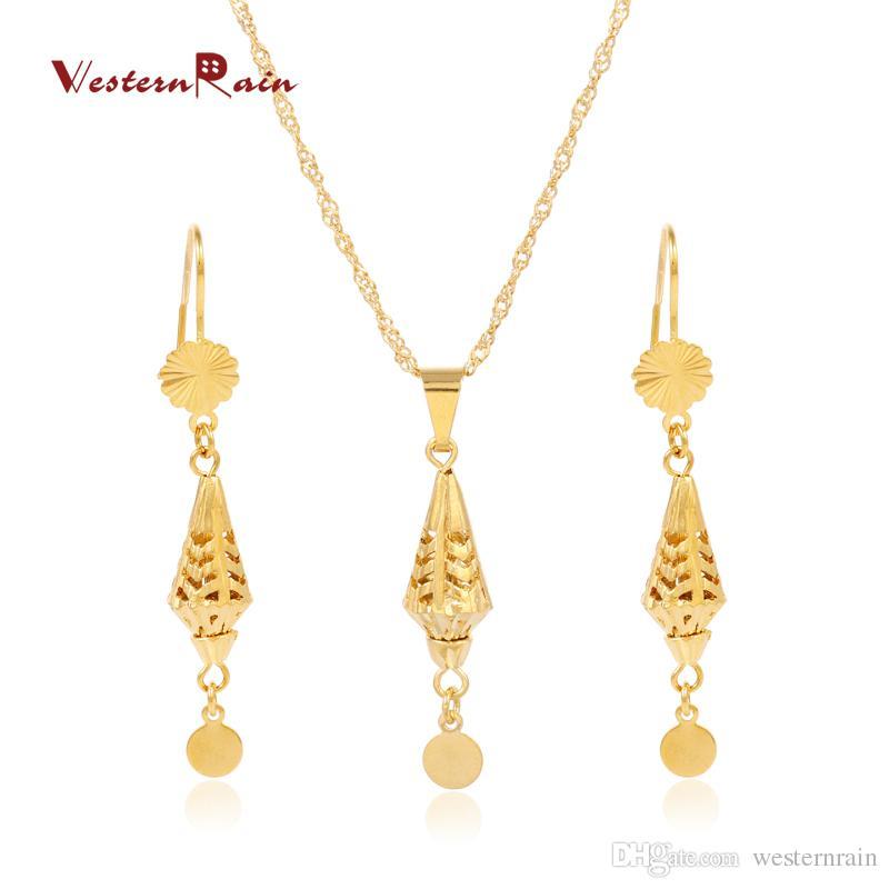 2018 westernrain 2017 new design 24k jewelry set fashion