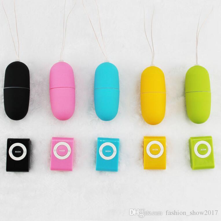 Vibratori MP3 portatili senza fili impermeabili Telecomando Donne Giocattoli vibranti massaggi del corpo dell'uovo Giocattoli adulti Prodotti donne