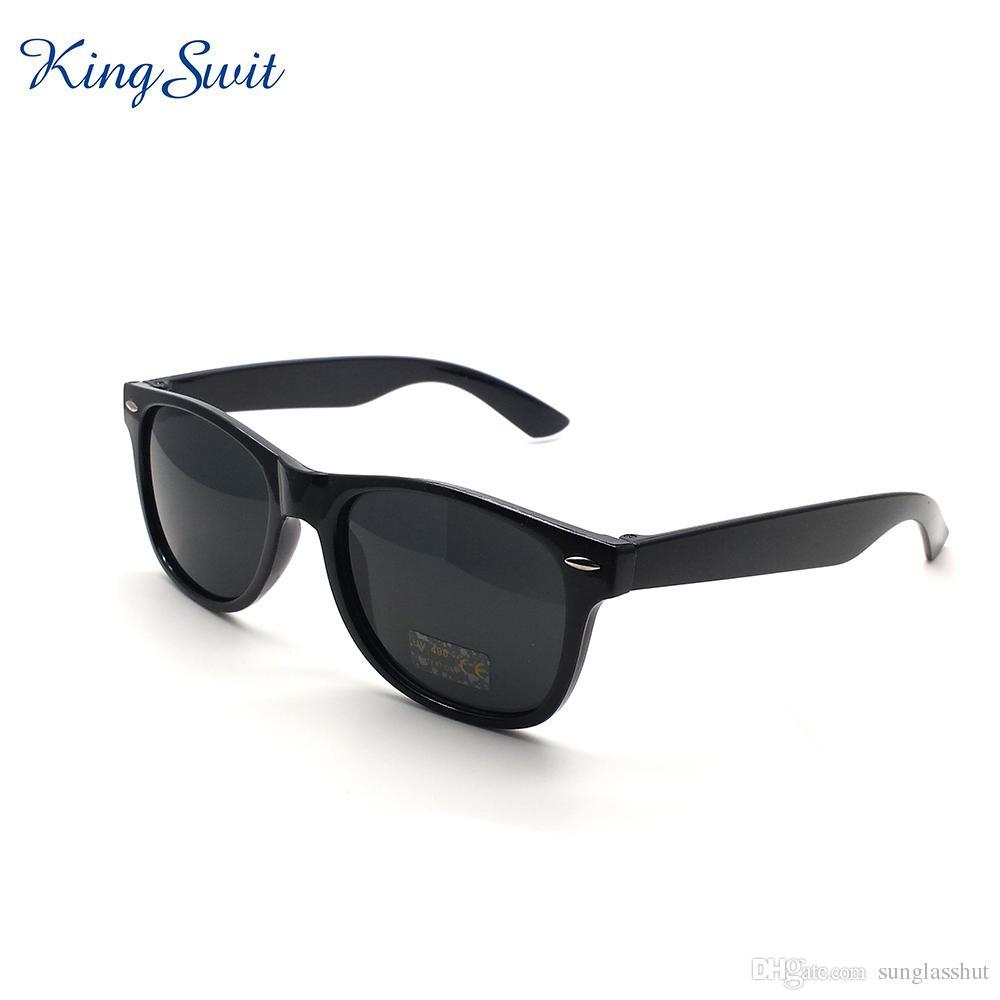 d1b870f06 KingSwit Classic Rectangle Sunglasses For Men & Women Plastic Frame And  Temple Eyeglasses Coating Mirror Lens Eyewear Gafas KS001 Cheap Prescription  ...