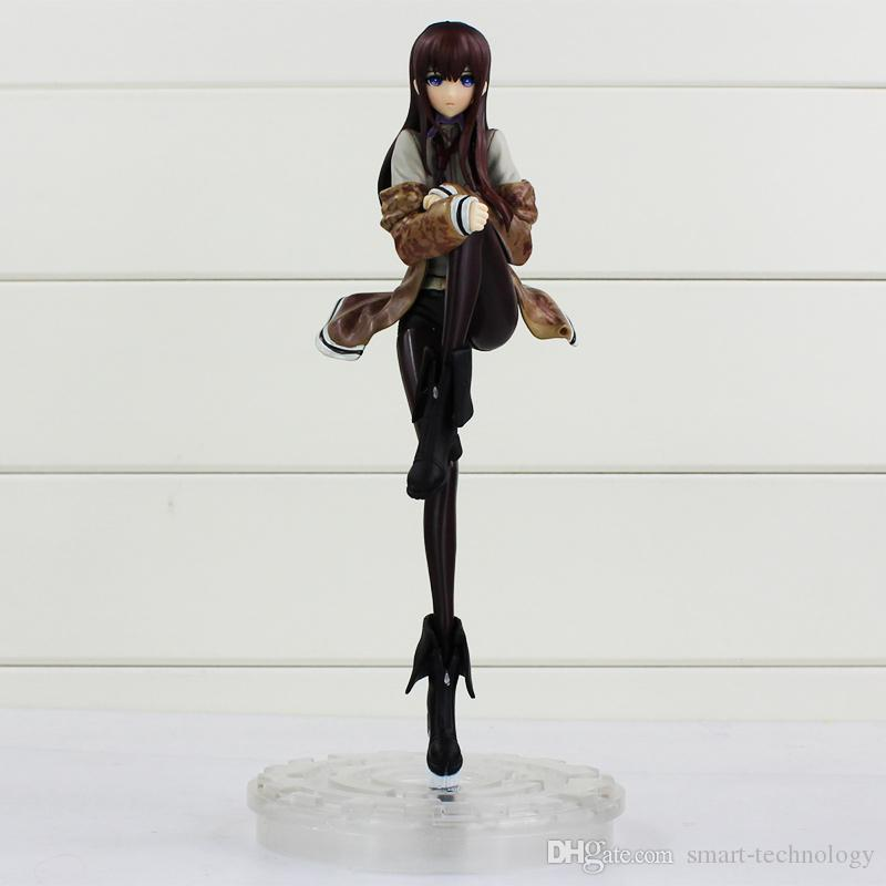 Steins Gate Makise Kurisu in scala 1/8 in PVC Action Figure Collection Model Toy regali di Natale 9 ''