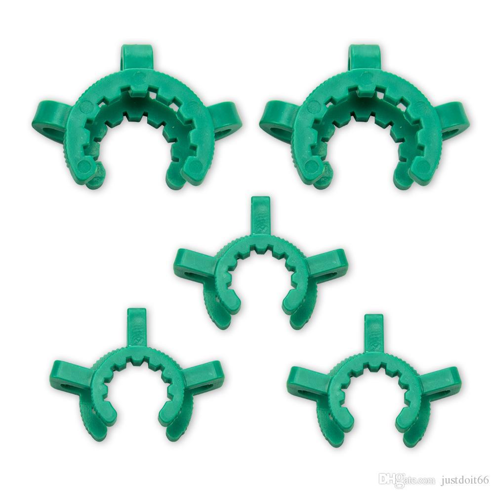 Nouvelle arrivée 29mm 24mm joint en plastique Keck clip en plastique Keck laboratoire laboratoire Clips indexables pour adapter verre d'eau Bongs