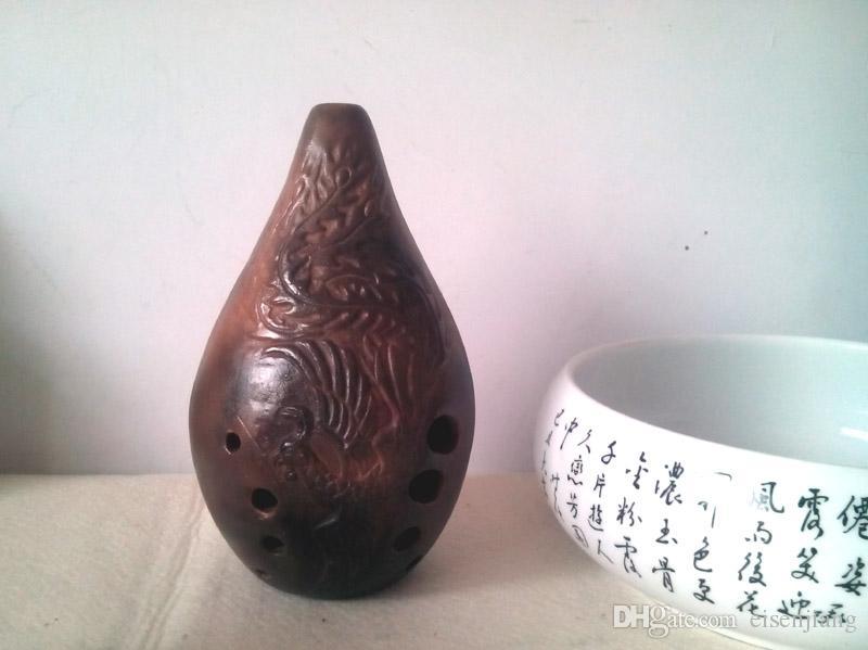Dix trous F ton plein plein d'instrument de musique de flûte Ocarina Xun ancien bon cadeau de son F basses gamme de ton baryton de 12 degrés