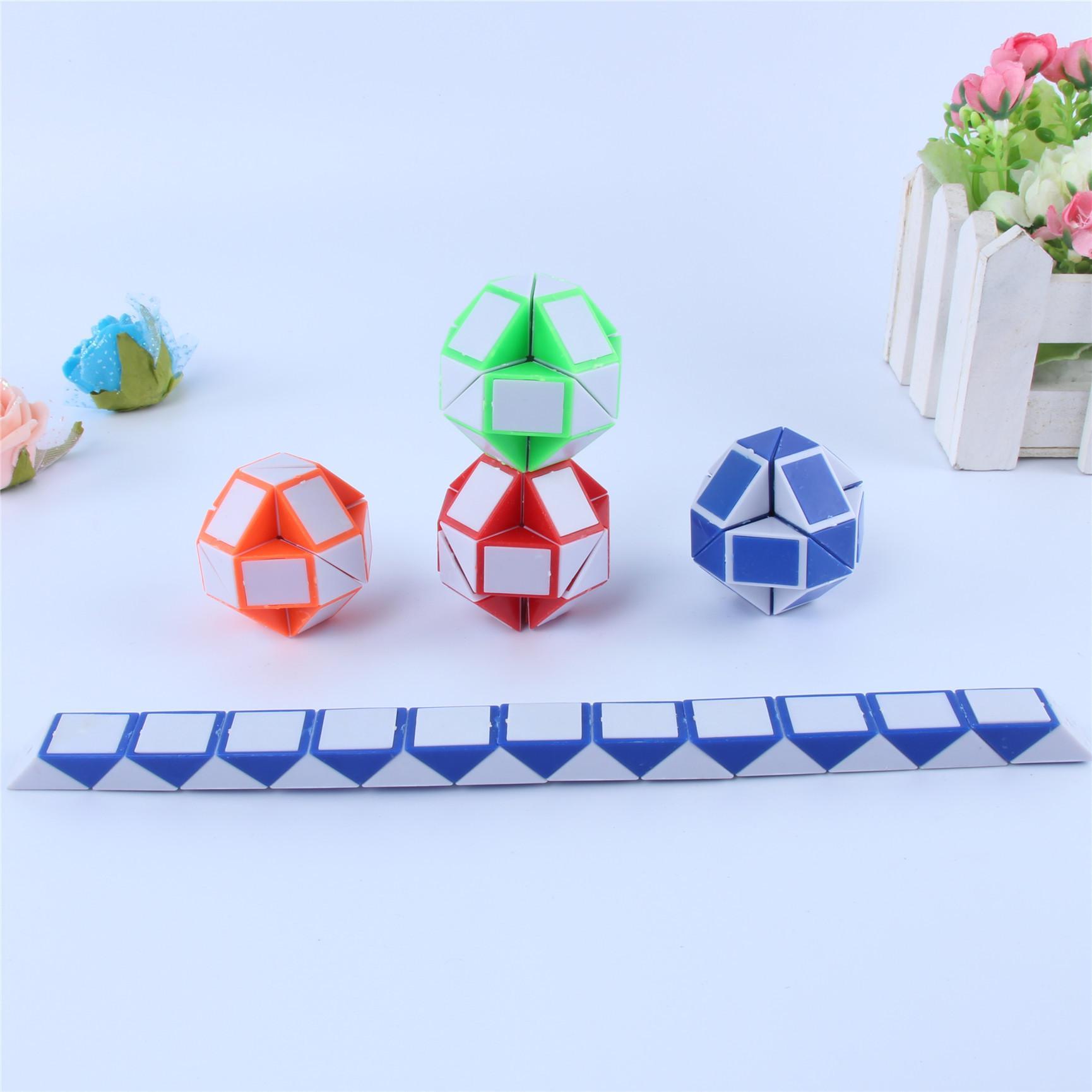Pequeno Mini Magia Cubo Mágico Régua Serpente Forma Toy Game 3D Puzzle Cubo de Torção Brinquedo Quebra-cabeça de Presente de Inteligência Aleatória Brinquedos Presentes Supertop