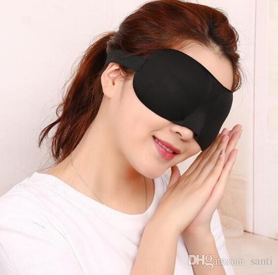 3D Портативный Мягкий Travel Отдых Спящего Помощи Маска Для Глаз Крышка Eye Patch Спальная Маска Чехол