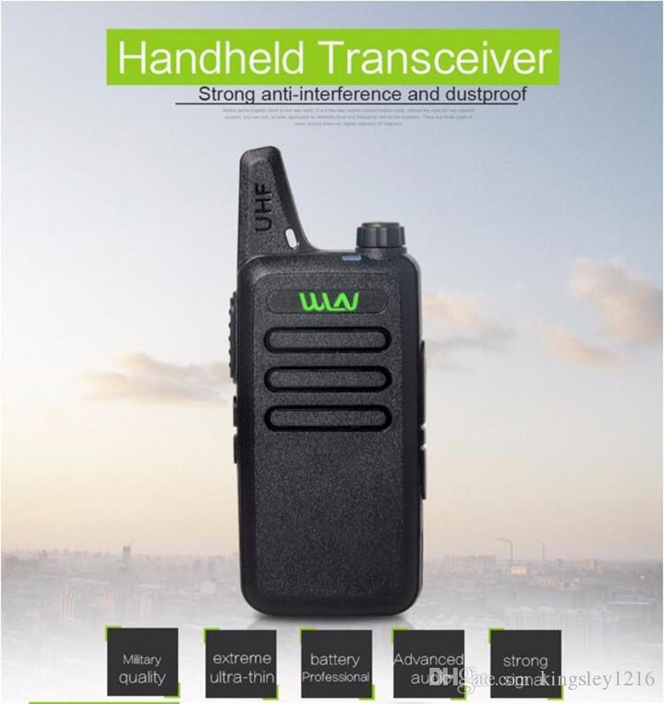 WLN Ultra-Thin Mini Walkie Talkie Professional Long Range Handheld CB Radio Transceiver Uhf Wln Kd-C1 For Two Way Radio Communicator