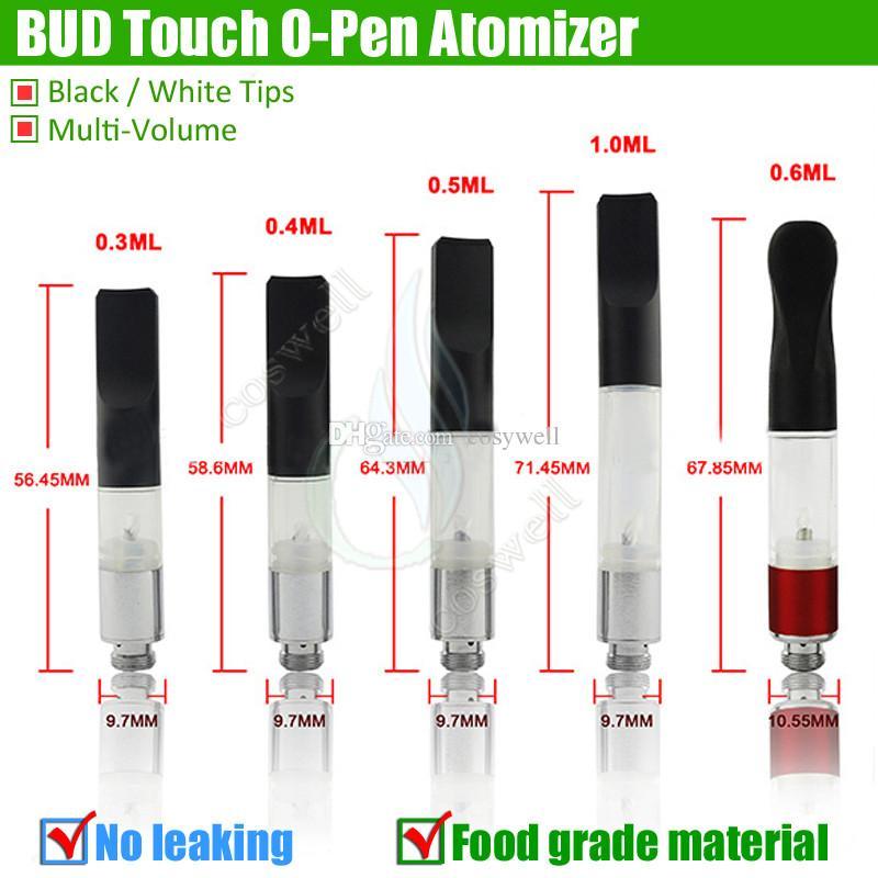 BUD Touch 510 Cartridge Thick Oil Vaporizer Atomizer O Pen CE3 vapor Waxy Mini cartomizers Smoking WAX Tank vape e cig cigarette vape DHL