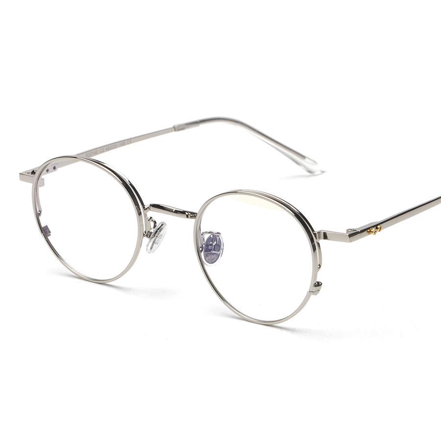 6ba2cbcc23 Wholesale- Alloy Frame Optical Eyewear Retro Plain Women Men ...