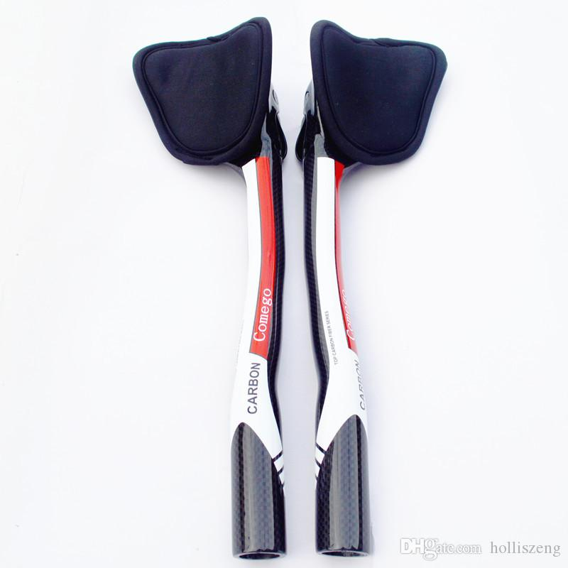 새로운 가이 단계 전체 탄소 섬유 자전거 휴식은 핸들 바를 넣어 에어로 카본 TT 핸들 바 자전거 핸들 막대